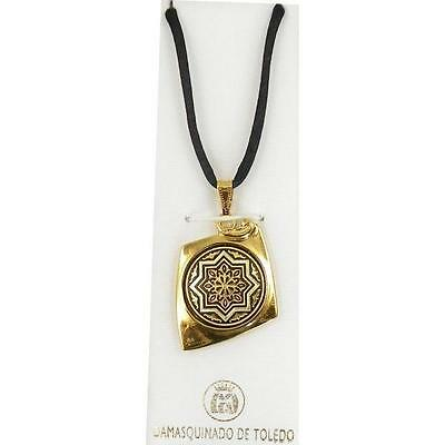 Damascene Gold Star of Redemption Pendant Necklace by Midas of Toledo Spain 8223