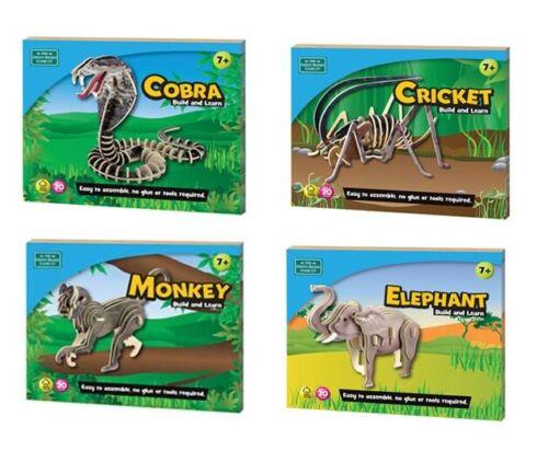 Construire et apprendre les animaux Facile à construire sans colle 8 animaux disponibles super jeux
