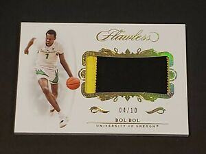 2019-Panini-Flawless-Bol-Bol-RC-Patch-SSP-10-Rookie-On-Fire
