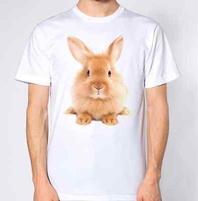 Fiducioso Simpatico Coniglio Nuovo T-shirt Animale Amante Top Soffici Adorabili-mostra Il Titolo Originale Saldi Estivi Speciali