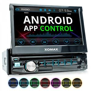 Autoradio-mit-Android-App-7-034-Touchscreen-Bildschirm-Bluetooth-DVD-CD-USB-SD-1DIN