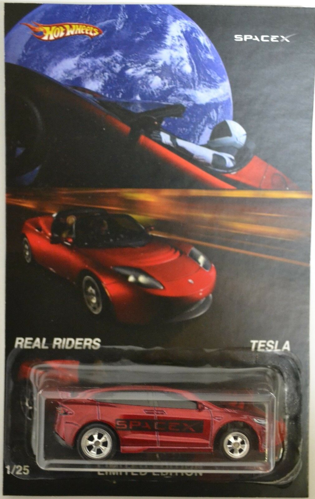 Tesla Modell X SpaceX Series Egen HW w  Real Riders LE