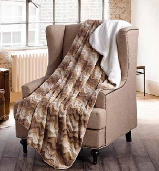 SAND STONE HILLS Soft Sherpa Luxury Throw Light Weight Blanket 50 in x 70 in