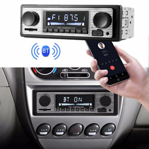 Car-1Din-MP3-Player-Bluetooth-Microphone-Hands-free-Calls-FM-Stereo-Radio-USB-SD