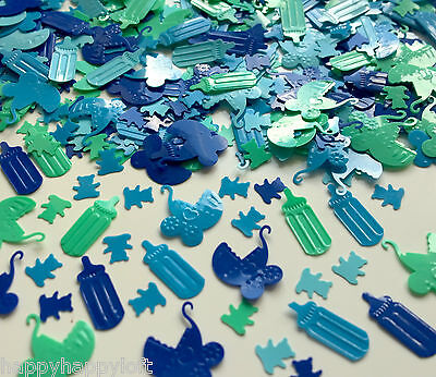 ❤BABY SHOWER BOY❤Table Confetti ❤Party Decorations❤ Sprinkles Boys Christening❤