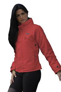 Giacca Jacket Moto Scooter Donna Tessuto Lady Rossa Giubbotto Cordura Protezioni 6wwltfsx-07225747-264594125