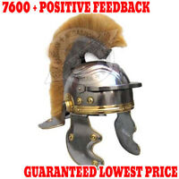 Roman Centurion Helmet (thick natural plume) re-enactment / larp / role-play Sca