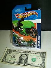 Hot Wheels Green Fright Bike Motorcycle #124 - Drag Racers  #4 - 2011