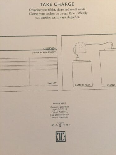 NIB NEW IVANKA TRUMP TRIO BLUSH CLUTCH  BAG TECH POWER TABLET CASE WALLET $95