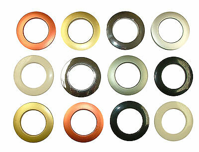 Eyelet Curtain Fabric Rings - Ideal For 16mm 19mm 25mm 28mm Diameter Poles
