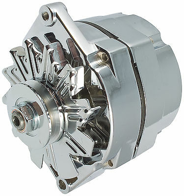 NEW CHROME 65 AMP ONE 1-WIRE 10SI ALTERNATOR SBC BBC CHEVY GM