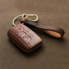 Handmade Leather Car Smart Key Cover Fob For Land Rover Range Rover Sport Evoque Fits More Than One Vehicle