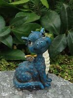 Miniature Dollhouse Fairy Garden Mini Baby Boy Blue Dragon Figurine
