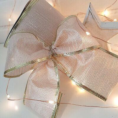Multi Purpose Craft Supplies Wired Rose Gold Ribbon Metallic Lame Mesh Wedding Christmas Tree Bow Gift Xmas Netpackmdz Com Ar