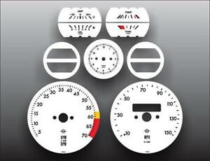 1968-1973-Opel-GT-w-1062-Dash-Instrument-Cluster-White-Face-Gauges