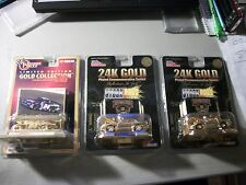 2 CHAMPIONS 24K GOLD PLATED STOCK RODS + 1 WINNERS CIRCLE GOLD JEFF GORDON 1:64