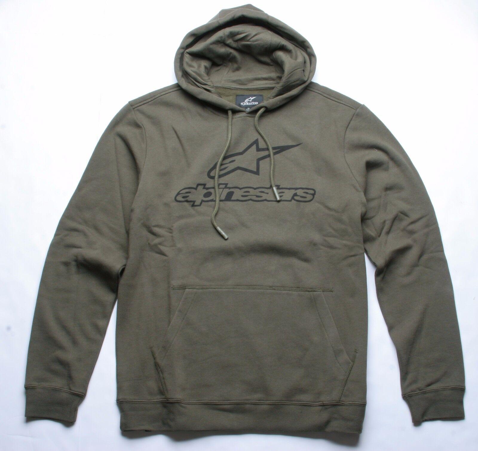 Alpinestars Immer Fleece Kapuzenpullover (M) Militärgrün