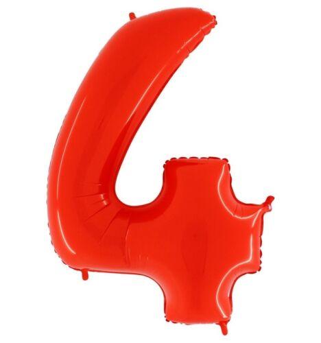 PALLONCINO ALLUMINIO RED NUMERI VARI Party Festa Compleanno Rossi Gas Elio Sfera