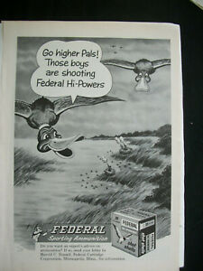 VTG-1960-Orig-Magazine-Ad-Federal-Hi-Power-Shot-Gun-Shells-Sports-Ammo