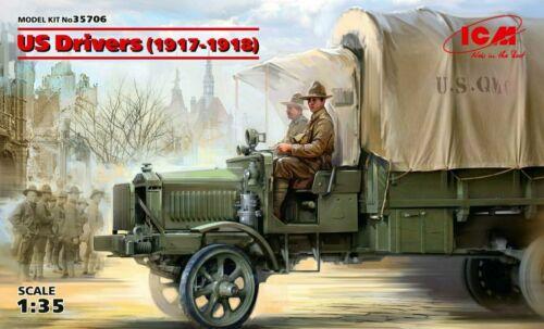 ICM 1:35 Scale Model Kit-US Pilotes 2 Figures ICM35706 1917-1918