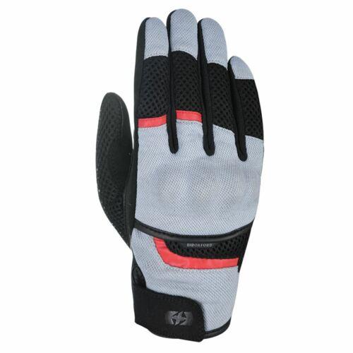 Oxford Brisbane Air Mens Short Vented Black Summer Motorbike Motorcycle Gloves