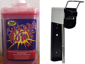 ZEP-CHERRY-BOMB-HAND-CLEANER-4-GALLON-CASE-ZEP-WALL-DISPENSER-FREE-SHIPPING