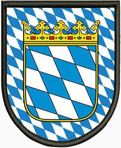 Wappen  von Bayern  Aufnäher Aufbügler. Pin
