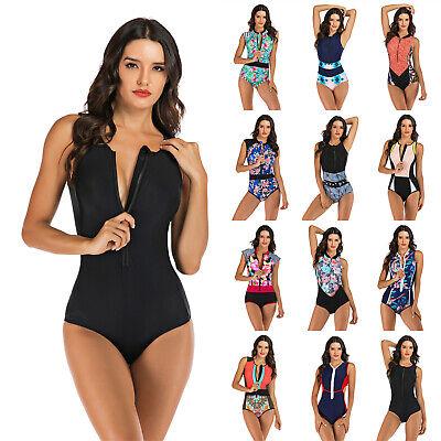 Women's Sleeveless Swimsuit One Piece Rash Guard UV