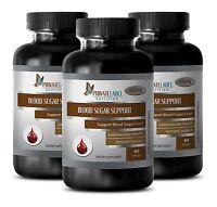 Blood Sugar Diet - Blood Sugar Control Formula - Yarrow Powder - 3 Bottles