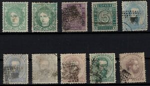 P133254-SPAIN-1870-1872-USED-CLASSIC-LOT-CV-470