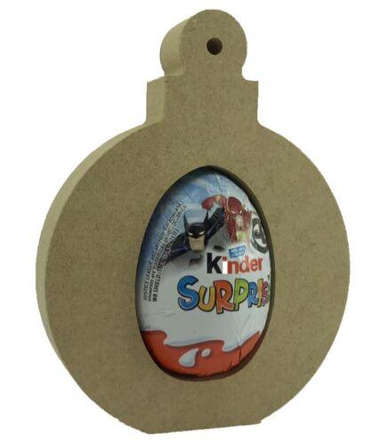 Bauble Paquete de 10-18 mm Soporte De Pie De Navidad Mdf Kinder Huevo Forma