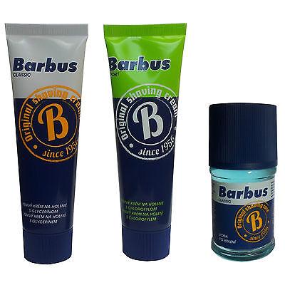 BARBUS AFTERSHAVE CLASSIC SPORT FOR MEN FOAMY CREAM GLYCERIN SOAP ACTIVE SHAVING