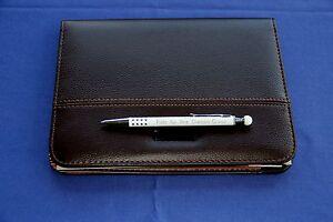 Schreibmappe-Konferenzmappe-DIN-A5-und-Metall-Kugelschreiber-mit-Ihrer-Gravur