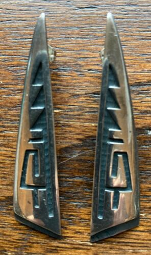 Beautiful Vintage 1990s HOPI Sterling Earrings