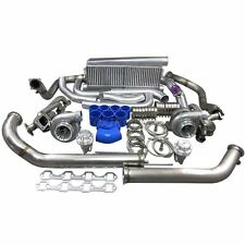 Gt35 Twin Turbo Intercooler Kit For 79 93 Ford Foxbody Mustang 50l Dual 900 Hp