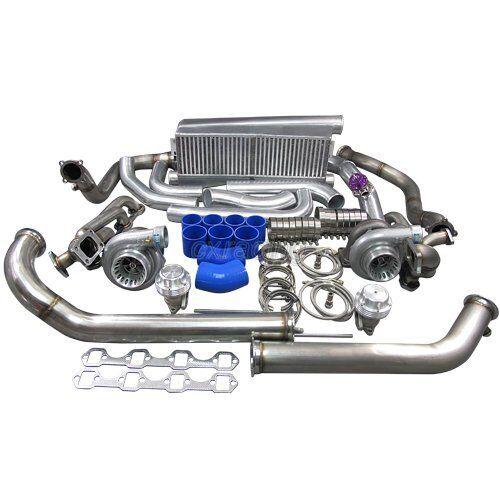 79-93 Ford FoxBody Mustang Twin Turbo Intercooler Kit 5 0L Dual GT35 900 HP