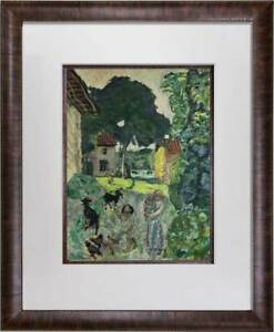 Pierre-BONNARD-Lithograph-SIGN-034-Village-034-1923-Limited-Edition-Custom-FRAME