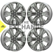 20 Nissan Armada Titan Smoked Dark Chrome Wheels Rims Factory Oem Set 62753 Fits Nissan Titan