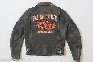 Harley 05vm Distressed Hog leren 97064 Vintage Road Davidson M Zeldzaam heren jas 0w8PknO