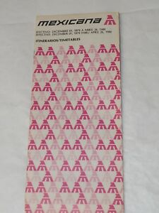 MEXICANA-Airlines-TIMETABLE-1980