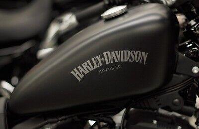 Harley Davidson Iron Tank Aufkleber In Weiss Glanz 10 Cmtop Neu 2 Stück Ebay