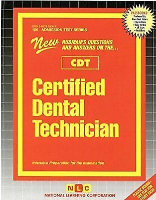 National Learning Corporation-Certified Dental Technician (Cdt) BOOK NEW
