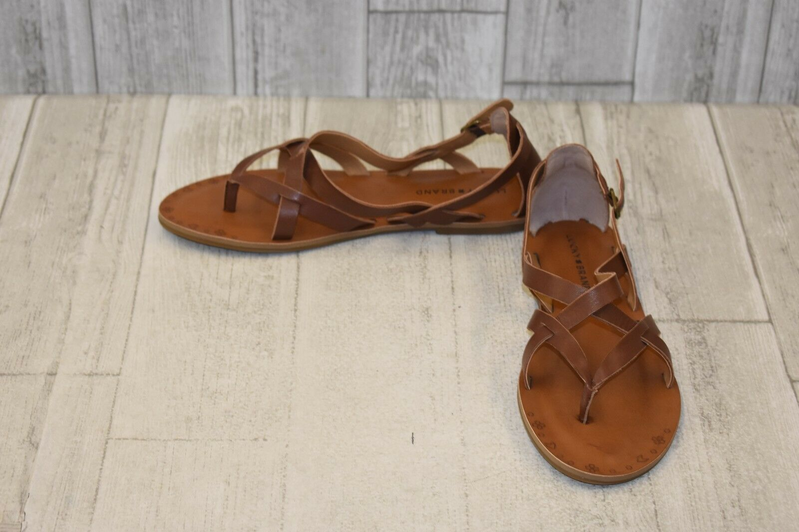 4f421742a67ed1 Lucky BRAND Women s Ainsley Strappy Thong Sandal Rye Ophlia leather ...