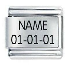 Custom Made Name & Date * Birthday * Daisy Charm Fits Nomination Classic Size