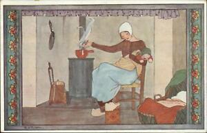 Rie-Cramer-Nursery-Rhyme-Fairy-Tale-Roe-Roe-Kindje-c1920-Postcard