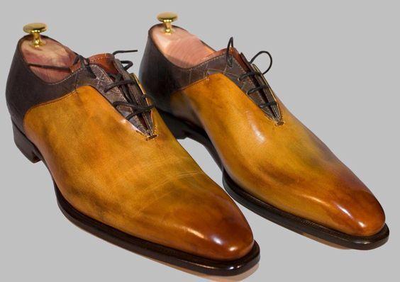 risparmia il 35% - 70% di sconto Handmade two tone lace up dress scarpe for Uomo Uomo Uomo unique design hand finished  molte sorprese