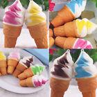 10cm Ice Cream Squishy Bun Cake Slow Rising Bread Toy Phone Straps Stress Relief