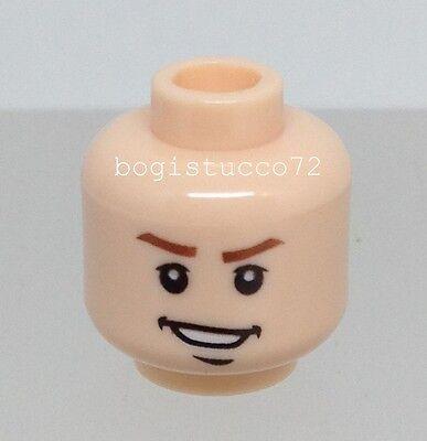 Lego Indiana Jones x1 Light Flesh Head Missing Tooth Grin Boy Minifigure NEW