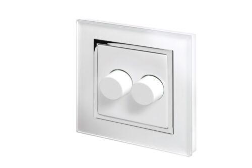 fondue Cuisinière Retrotouch verre blanc CT interrupteurs Plug Sockets gradateurs