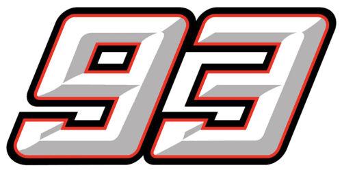 STICKER MARQUEZ MARC #93 AUTOCOLLANT 9cm MOTO GP 93 CHAMPION DU MONDE 500 QA004